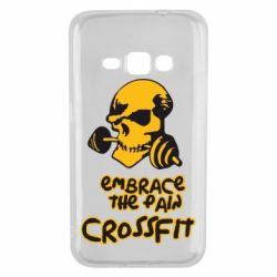 Чехол для Samsung J1 2016 Embrace the pain. Crossfit - FatLine