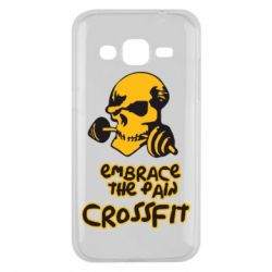 Чехол для Samsung J2 2015 Embrace the pain. Crossfit - FatLine