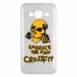 Чехол для Samsung J3 2016 Embrace the pain. Crossfit - FatLine