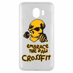 Чехол для Samsung J4 Embrace the pain. Crossfit - FatLine