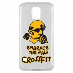 Чехол для Samsung S5 Embrace the pain. Crossfit - FatLine