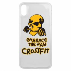 Чехол для iPhone Xs Max Embrace the pain. Crossfit - FatLine