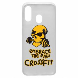 Чехол для Samsung A40 Embrace the pain. Crossfit
