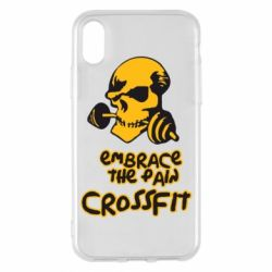 Чехол для iPhone X Embrace the pain. Crossfit - FatLine