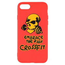 Чехол для iPhone 8 Embrace the pain. Crossfit - FatLine