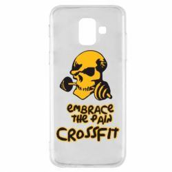 Чехол для Samsung A6 2018 Embrace the pain. Crossfit - FatLine