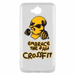 Чехол для Huawei Y6 Pro Embrace the pain. Crossfit - FatLine