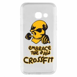 Чехол для Samsung A3 2017 Embrace the pain. Crossfit - FatLine