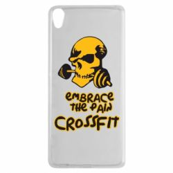 Чехол для Sony Xperia XA Embrace the pain. Crossfit - FatLine