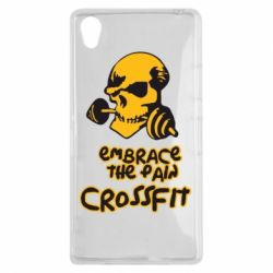 Чехол для Sony Xperia Z1 Embrace the pain. Crossfit - FatLine