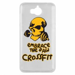 Чехол для Huawei Y5 2017 Embrace the pain. Crossfit - FatLine