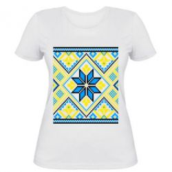 Женская футболка Embroidery