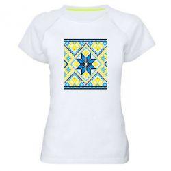 Женская спортивная футболка Embroidery