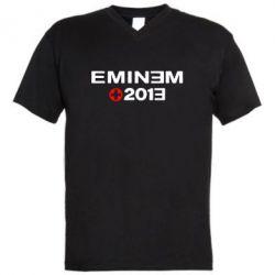 Мужская футболка  с V-образным вырезом Eminem 2013 - FatLine