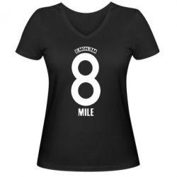 Женская футболка с V-образным вырезом Eminem 8 mile - FatLine