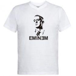 Мужская футболка  с V-образным вырезом Eminem Logo - FatLine