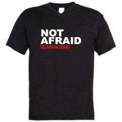 Мужская футболка  с V-образным вырезом Eminem Not Afraid - FatLine
