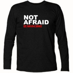 Футболка с длинным рукавом Eminem Not Afraid - FatLine