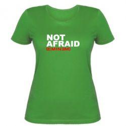 Женская футболка Eminem Not Afraid - FatLine