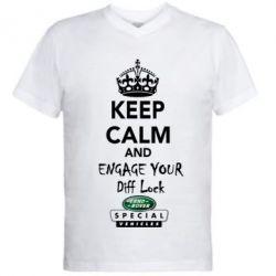 Мужская футболка  с V-образным вырезом Engage your diff lock