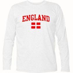 Футболка с длинным рукавом England - FatLine