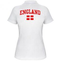 Женская футболка поло England - FatLine