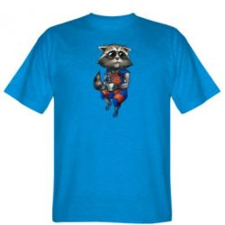 Мужская футболка Енот Ракета и Грут - FatLine