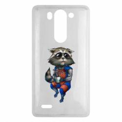 Чехол для LG G3 mini/G3s Енот Ракета и Грут - FatLine