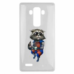 Чехол для LG G4 Енот Ракета и Грут - FatLine
