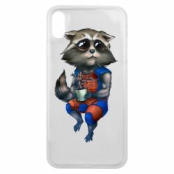 Чехол для iPhone Xs Max Енот Ракета и Грут - FatLine