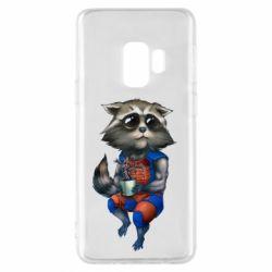 Чехол для Samsung S9 Енот Ракета и Грут - FatLine