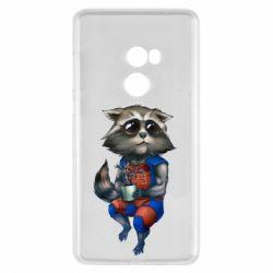Чехол для Xiaomi Mi Mix 2 Енот Ракета и Грут - FatLine