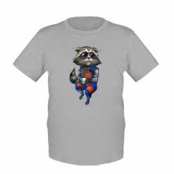 Детская футболка Енот Ракета и Грут