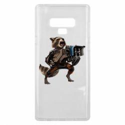 Чехол для Samsung Note 9 Енот Стражи Галактики