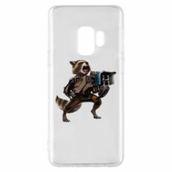 Чехол для Samsung S9 Енот Стражи Галактики