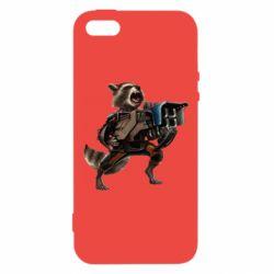 Купить Чехол для iPhone5/5S/SE Енот Стражи Галактики, FatLine