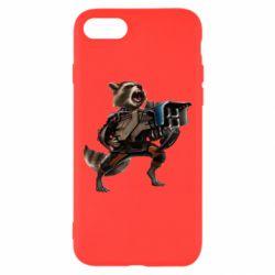 Чехол для iPhone 7 Енот Стражи Галактики