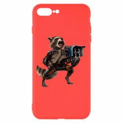 Чехол для iPhone 8 Plus Енот Стражи Галактики