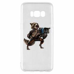Чехол для Samsung S8 Енот Стражи Галактики