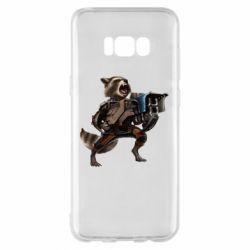Чехол для Samsung S8+ Енот Стражи Галактики