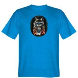 Мужская футболка Енот в очках - FatLine