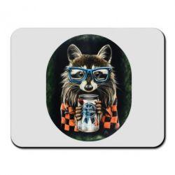 Коврик для мыши Енот в очках - FatLine