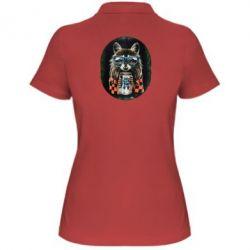 Женская футболка поло Енот в очках - FatLine