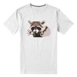 Мужская стрейчевая футболка Eнот вектор