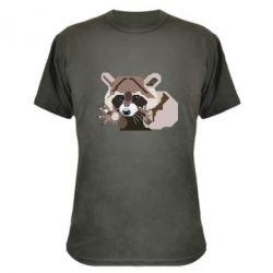Камуфляжная футболка Eнот вектор
