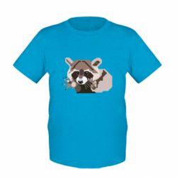 Детская футболка Eнот вектор