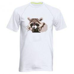 Мужская спортивная футболка Eнот вектор