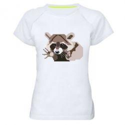 Женская спортивная футболка Eнот вектор