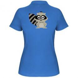 Женская футболка поло Енот - FatLine