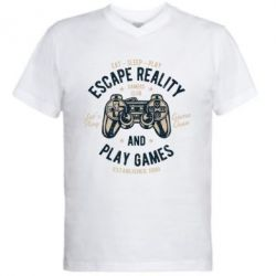 Чоловіча футболка з V-подібним вирізом Escape Reality